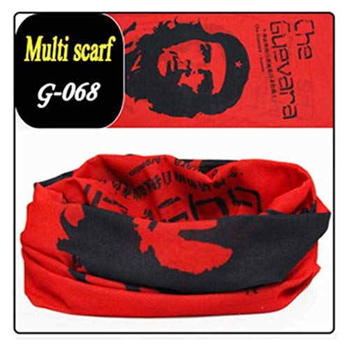 Scarf Mask Binmer Magic Seamless Fashion Printed Sport Outdoor Cycling Scarf Mask Sweat Towel (D)