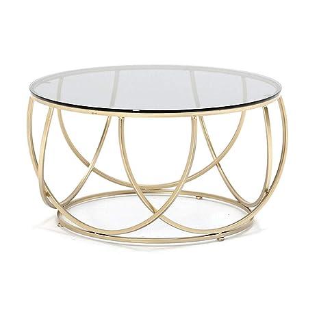 Amazon.com: Mesa de centro – Elegante mesa redonda de ...