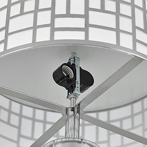 Ceiling Lighting For Kitchen Dining Room Bedroom FD006CH-2-POP POPILION 16 Inch Modern Design Metal Chrome Finish Flush Mount Ceiling Light