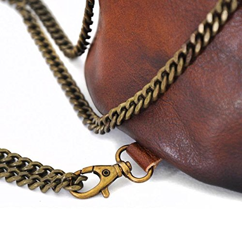Pratesi Pienza bolsa de cuero - B159 Bruce (Coñac) Fucsia