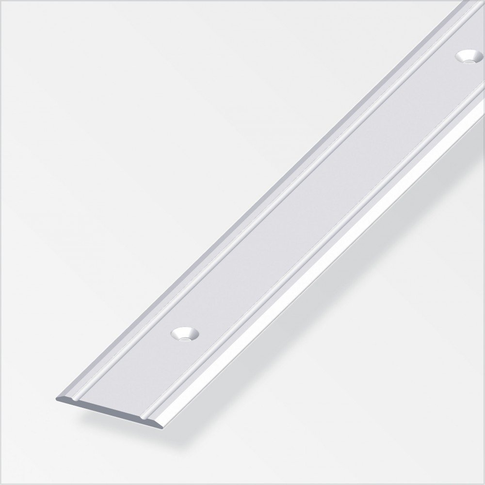 Übergangsprofil superflach/gelocht; 30mm/200cm Alu eloxiert bronze Alfer