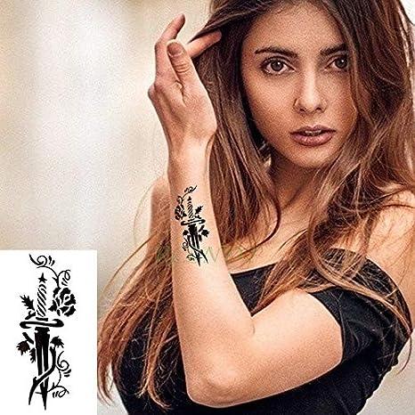 ljmljm 5pcs Tatuaje Impermeable Etiqueta engomada del Tatuaje ...