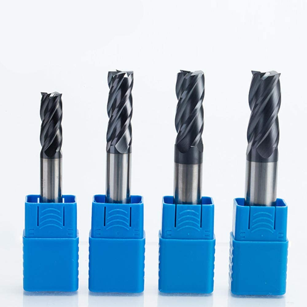 Drill Bit Sets 1PC 4 Flutes Solid Carbide End Mill CNC Milling Cutter HRC45 Tungsten Steel TiAIN Coating Router bits for CNC machine-4634 4636