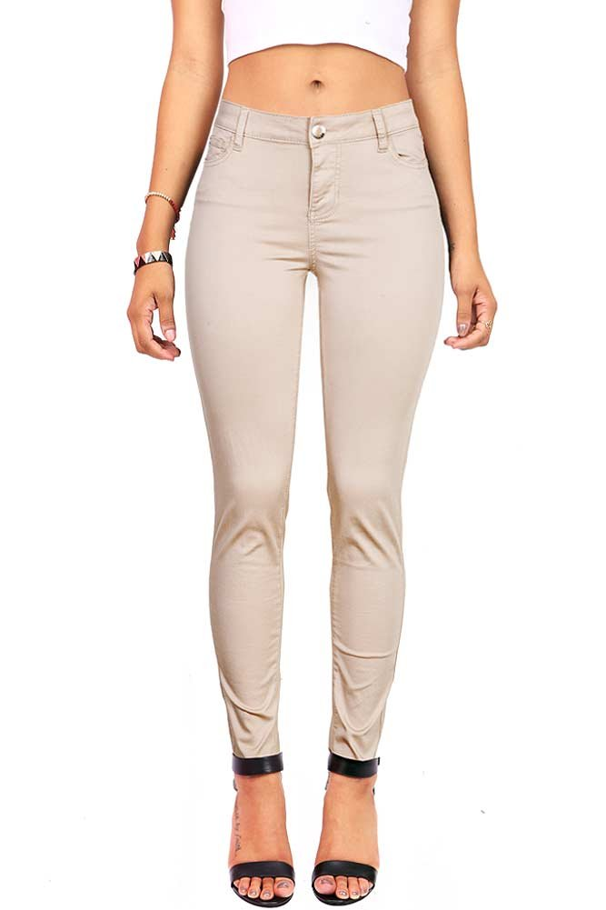 Celebrity Pink Women's Juniors Mid-Rise Jeggings Fit Skinny Pants (9, Stone)