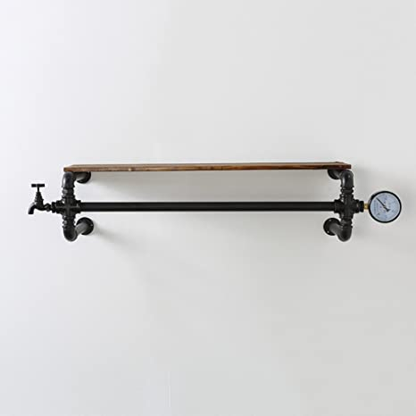 Amazon.com: Perchero de hierro forjado con tubo de agua en ...