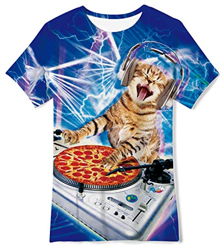 - Music Dj 3D Printed T-Shirts Casual Daily Tee Short Sleeve Top Crewneck Cool Soft Rock Playwear Clthing for Teenager Youth Girls Boys,6-8 Years Old