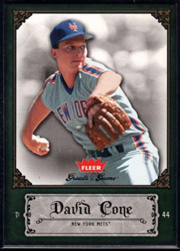Baseball MLB 2006 Fleer Greats of the Game #26 David Cone Mets