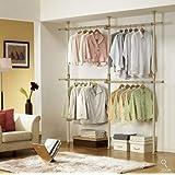 Amazon.com: Prince Hanger Silver Crome Adjustable 2 Tier ...