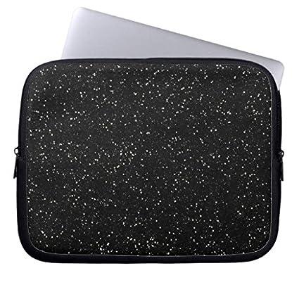 wholesale dealer 31df4 73890 Black Glitter Sparkle Graphic Art Pattern Design Laptop Sleeve 12  Inch,Notebook/MacBook Pro/MacBook Air Laptop