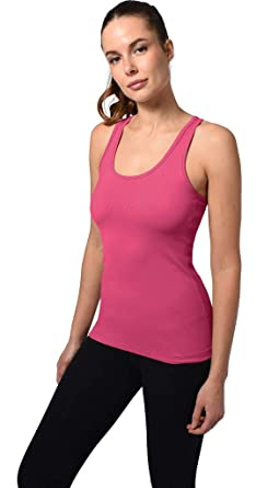 06bdd7b11c039 90 Degree By Reflex - Power Flex Racerback Tank Top - Bittersweet Pink - XS