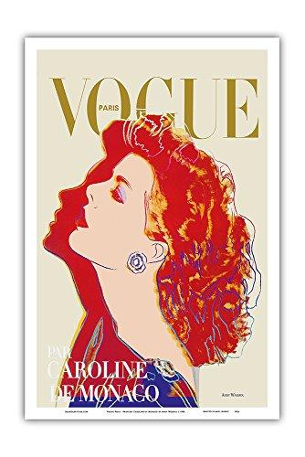 Vogue Paris Magazine Cover - Princess Caroline of Monaco by Andy Warhol - Vintage Magazine Cover by Andy Warhol c.1984 - Master Art Print - 12in x 18in Art Poster Magazine Cover
