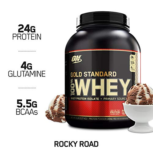 OPTIMUM NUTRITION GOLD STANDARD 100% Whey Protein Powder, Rocky Road, 5 ()