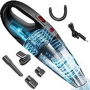Aspiradora,120W Aspirador de Mano Sin Cable Potente, Aspirador Portátil de Mojado y Seca, con Filtro de Acero