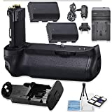 BG-E20 Replacement Battery Grip Bundle for Canon EOS 5D Mark IV DSLR Camera with 2 Replacement LP-E6 Batteries + AC/DC Multi Purpose Travel Charger + Camera Starter Kit from Eternal Photo