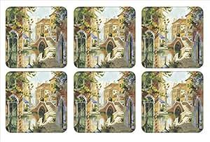 Pimpernel Venetian Scenes Coasters - Set of 6