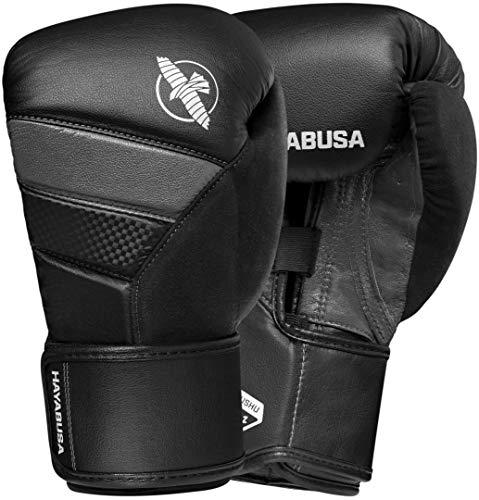 Hayabusa T3 Boxing Gloves | Men and Women | Black/Grey |14oz | Bag Gloves