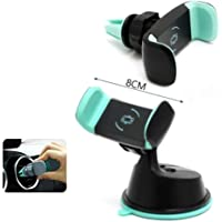 CEUTA™ Dual Purpose 360-Degree Rotating Mobile Car Mount Holder Stand for Windscreen, Dashboard & Table Desk with Double Grip Holder