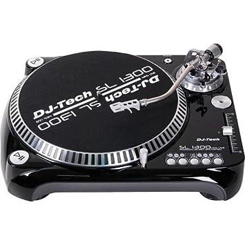 DJ Tech SL 1300 MK6 USB Direct Drive Turntable   Black   1300MK6USB BK
