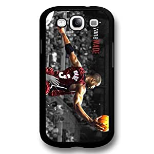 Onelee(TM) - Customized Black Hard Plastic Samsung Galaxy S3 Case, NBA Superstar Miami Heat Dwyane Wade Samsung Galaxy S3 Case