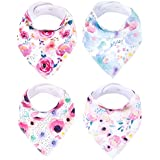 Baby Bandana Drool Bibs for Drooling and Teething 4...