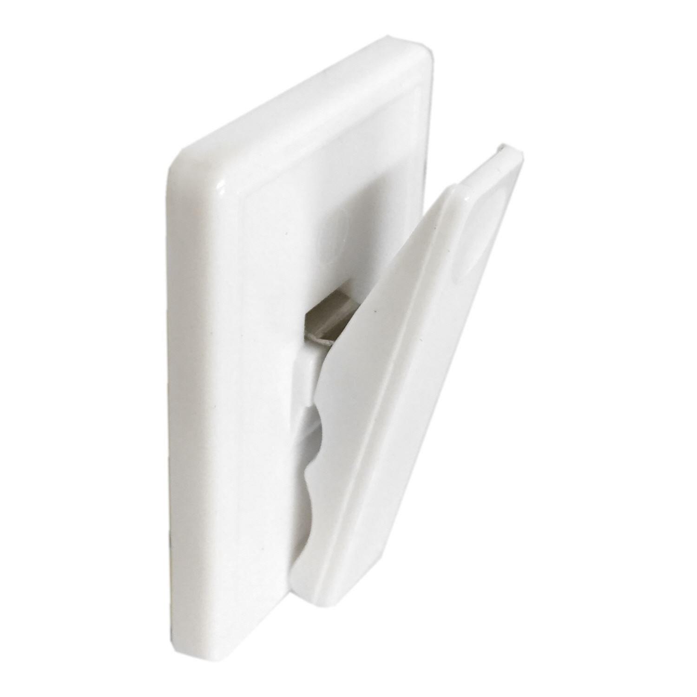 Pince-notes autocollant Assortis Bulk Hardware 48 x 32 mm blanc 25 Clips