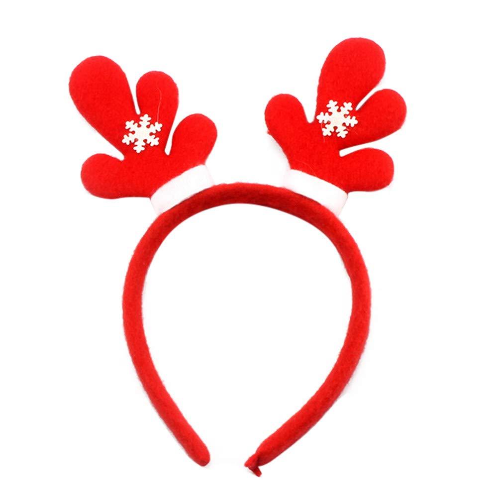 Drasawee Christmas Springy Snowman Santa Claus Bear Tree Head Band Holiday Hair Hoops 6#