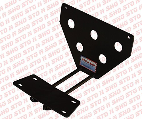 2008-2014 Jeep Wrangler STO-N-SHO Take Off Removable Front License Plate Bracket Big Mike' s Performance Parts