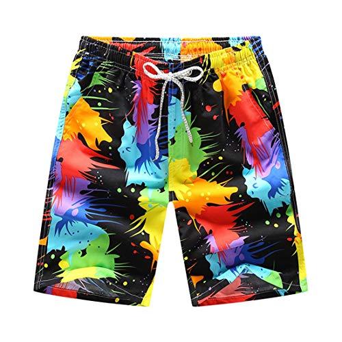 Apparel de de Pintura Playa de Pantalones Casuales STAZSX Tinta Secado Pantalones Verano rápido de Pintura Pantalones Playa Tinta qw4vnnAd