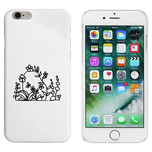 Blanc 'Fleurs Sauvages' étui / housse pour iPhone 6 & 6s (MC00086671)