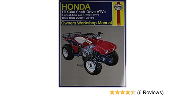 Amazon Haynes 2125 Honda Trx300 Shaft 8800 Alan Harold Ahlstrand Automotive: Honda 4 Track 1996 ATV Wiring Schematic At Satuska.co