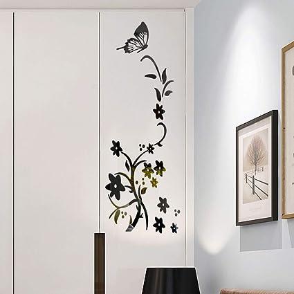 Vovotrade Miroir Stickers DIY Miroir Wallpaper Multicolor Butterfly ...