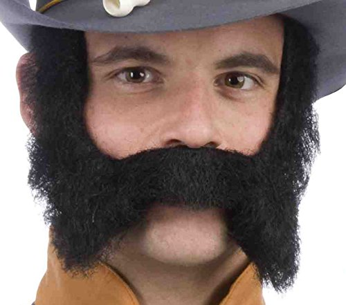 Forum Novelties Men's Novelty Mustache and Sideburns, Black, One Size -