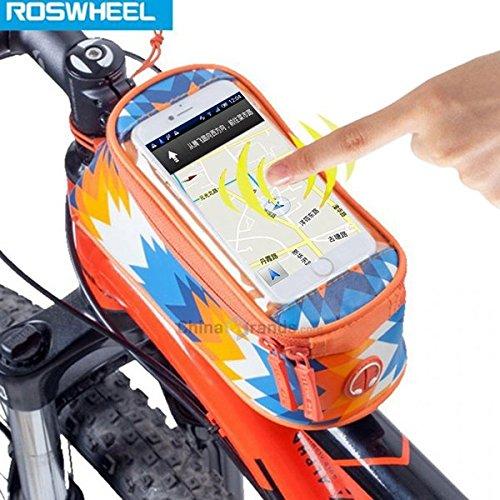 Moppi Sac de téléphone mobile à écran tactile ROSWHEEL cas vélo vélo vélo avant tube avant sac sacoche de vélo
