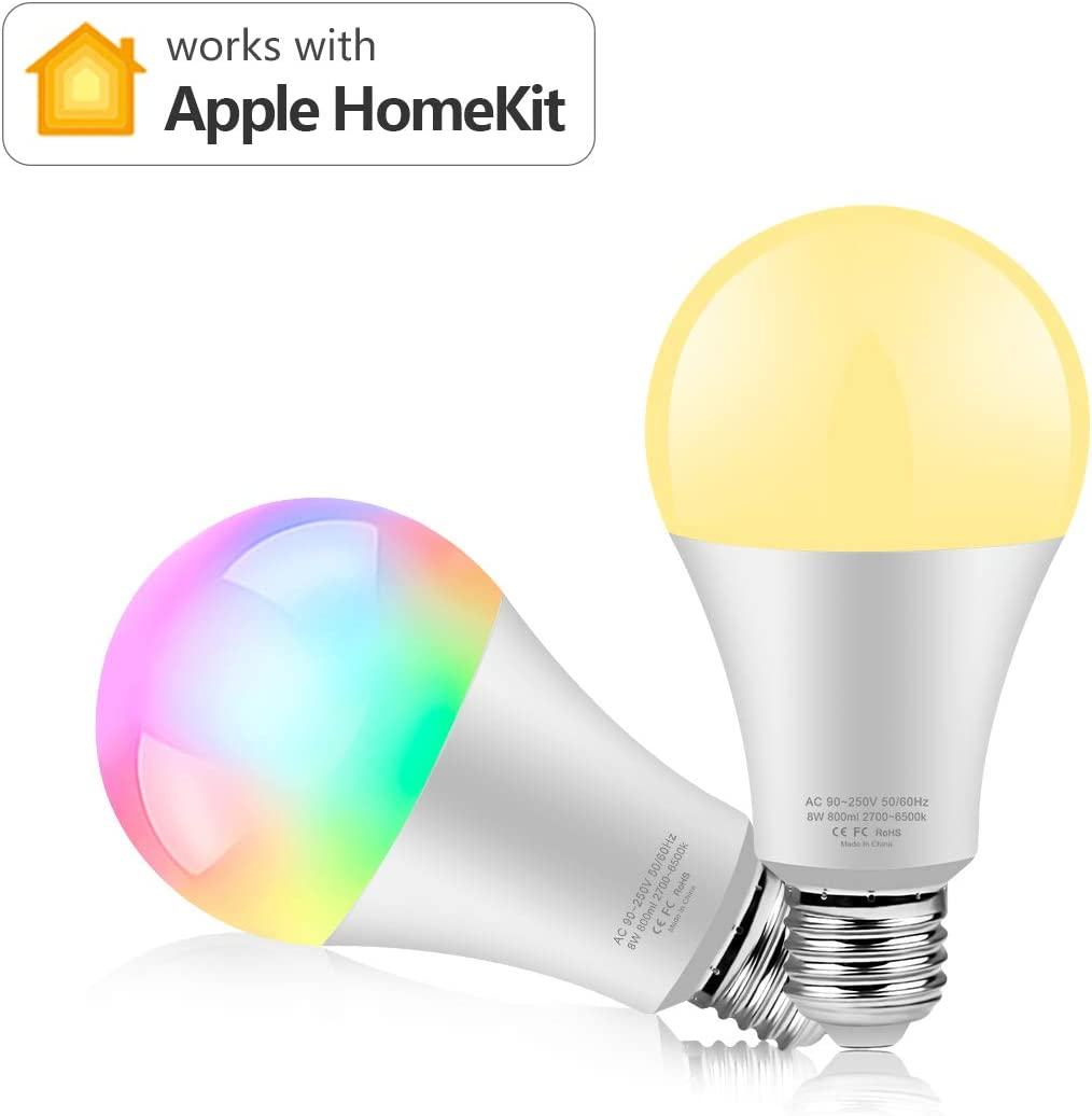 New Version AIMENGTE Voice Control Smart Wi-Fi LED Light Bulb 8W RGB 2.4G WiFi Smart Control LED Lamp Work