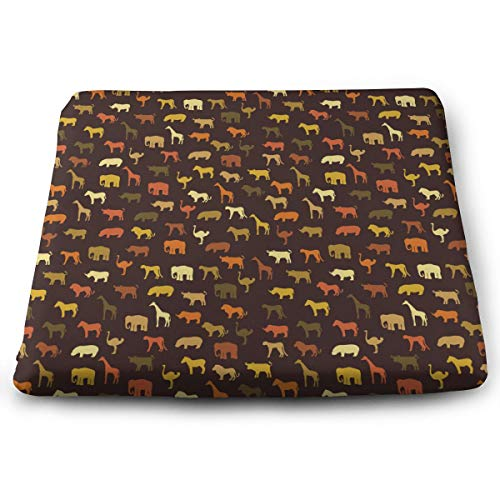 NiYoung Comfort Memory Foam Cushion Orthopedic Design to Relieve Back/Sciatica/Coccyx and Tailbone Pain/Perfect for Your Office Chair/Car Seat/Sitting On Floor - Wildlife Animal World