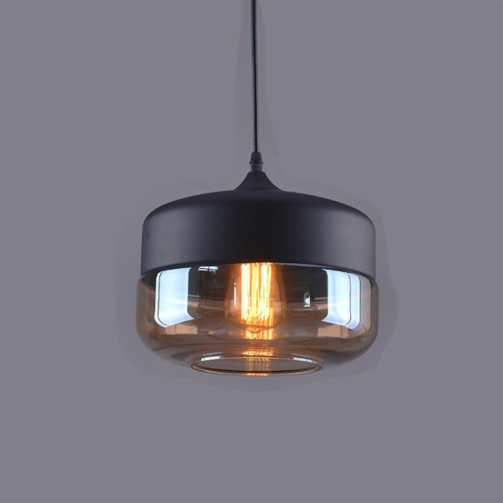 Weare Home Retro-Platt Durchsichtiger Glas-Lampenschirm ...