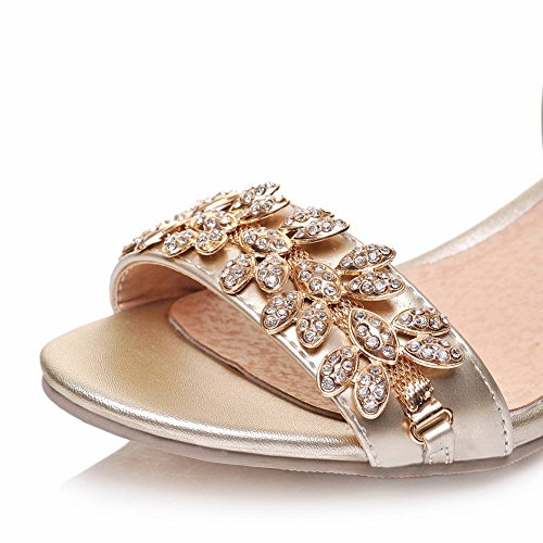 Diamond Material Sandals Toe M Womens B Gold 5 Soft US Glass Open 1TO9 8 AWwE8x0qx