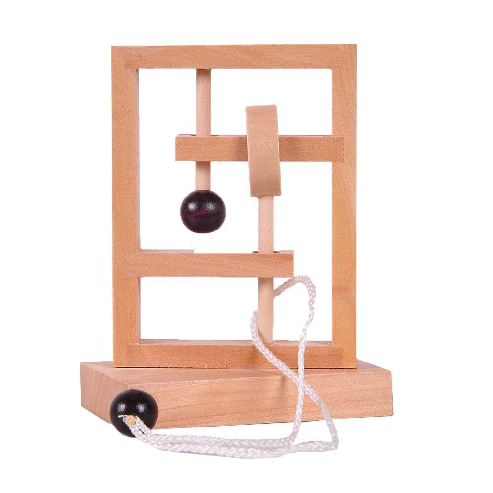 Oce180anYLV Holz 3D Seil String Ball Topologie Puzzle Spiel Rä tsel Kinder Erwachsene Spielzeug