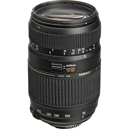 Tamron AF 70-300mm f/4.0-5.6 Di LD Macro Zoom Lens with Built In Motor for Nikon D3200, D3300, D5200, D5300, D7000, D7100, D7200 Digital SLR Cameras + I3E Pro Ultrasoft Cleaning Cloth