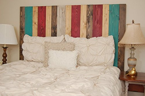 Country King Size Headboard (Sugar Mix Design - King Hanger Headboard with Vertical Boards. Mounts on Wall.)