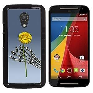 For Motorola Moto G2 II / Moto G (2nd gen) / Moto G (2014) , S-type® Flower Sci-Fi Robot Machine Futuristic - Arte & diseño plástico duro Fundas Cover Cubre Hard Case Cover