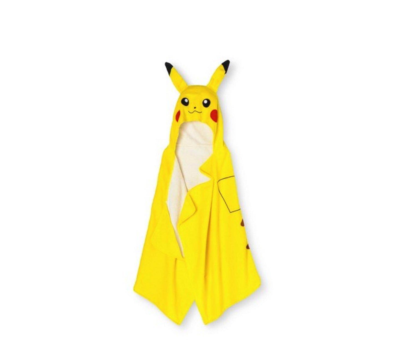 Pokemon Pikachu Yellow Hooded Terry Bath Towel Wrap