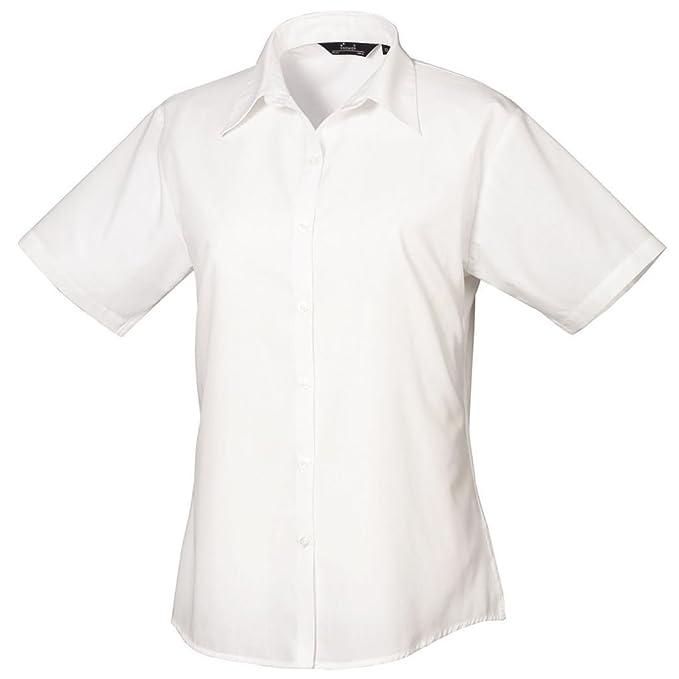 Para mujer blusa de popelín de manga corta para, traje de neopreno para mujer Plain