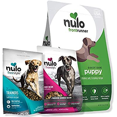 Nulo Puppy Food Starter Kit: Premium Food Bundle Includes Dry Puppy Kibble, Freeze-Dried Meal Supplement, and Trainer Treats - Natural, Healthy, and Delicious Nutrition Your Puppy Will Love