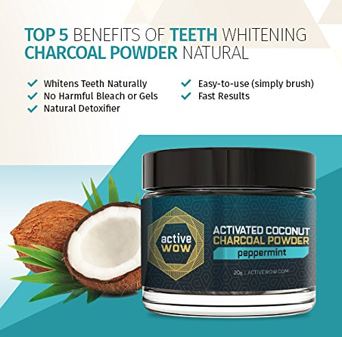 Amazon Active Wow Teeth Whitening Charcoal Powder Peppermint Beauty