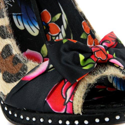 Femme Iron Fist Love Bites Chaussures Talon Haut Motif Léopard