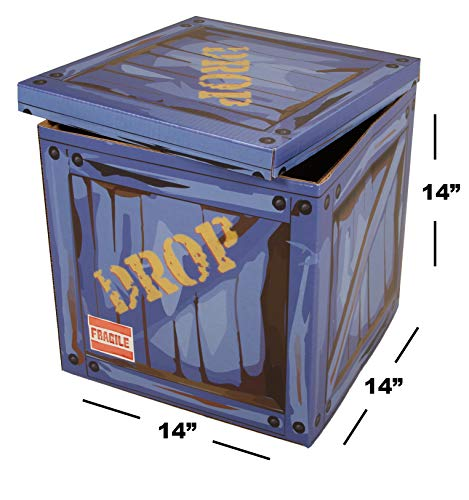 """Large Loot Drop Box - Gamer Birthday Party Supplies - Goes with Merch, Chug Jugs, Pickaxes - Decor Gift Accessory (14"""" x 14"""" x 14"""")"""