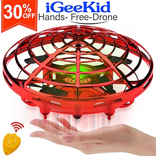 [Auto-Avoid Obstacles] Flying Ball Hand Operated Mini Drones for Kids & Adults Flying RC Drone Quadcopter 2 Speed 360°Rotating Led Light Kids Outdoor Sports Toy Beginners Boy Girs Age 3-12 Gift (Toys To Avoid For Ages 3 5)