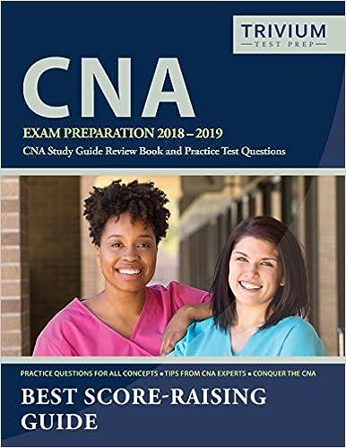 CNA Exam Preparation 2018 2019 CNA Study Guide Review Book