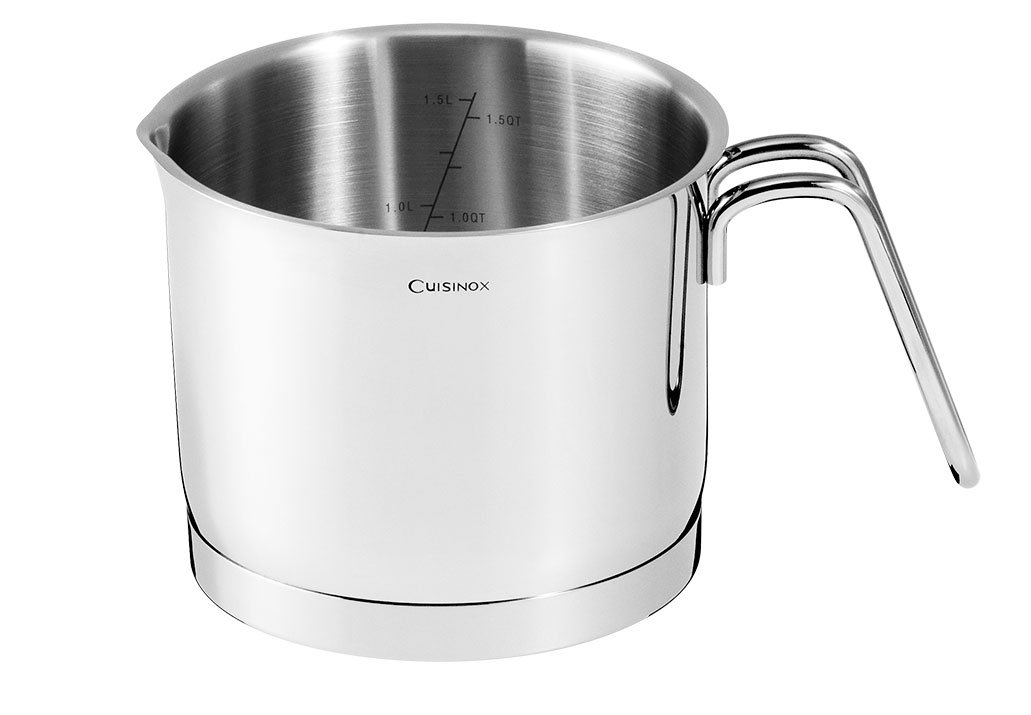 Pot de lait Cuisinox14 cm /convient pour tous les types de cuisson/Acier inoxydable avec ultimate/ lave-vaisselle